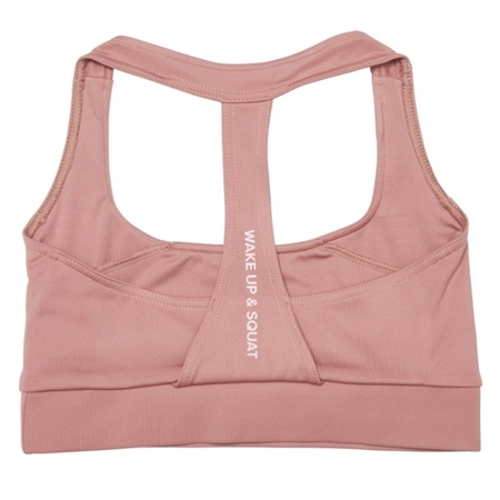 WAKE UP AND SQUAT - MIX&MATCH BRA TOP (DUSTY PINK)