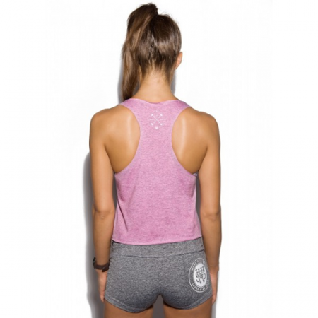 WAKE UP AND SQUAT LOGO TANK TOP - LIGHT PINK