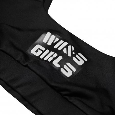 WAKE UP AND SQUAT - GIRLS BRA TOP BLACK