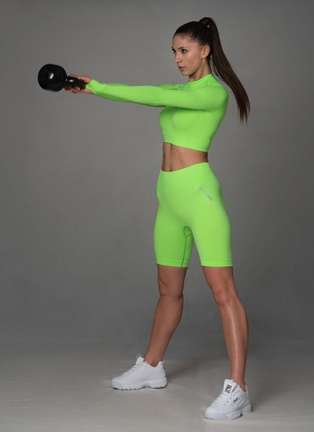 BEZSZWOWE BIKERY NEON YELLOW-GREEN (PUSH UP)