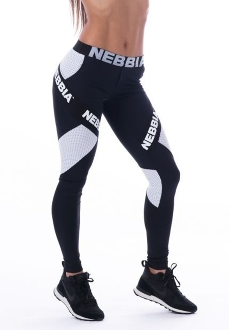 NEBBIA - LEGGINSY SUPPLEX & CARBON N214 BLACK (PUSH UP)