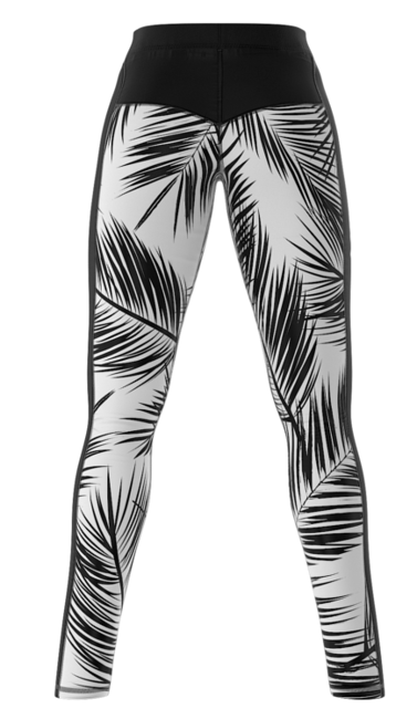 SMMASH - LEGGINSY L3 BLACK PALM (PUSH UP)