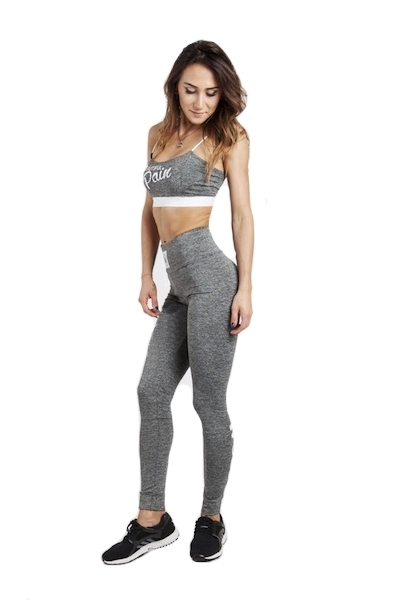 WAKE UP AND SQUAT - LEGGINSY GREY BASIC (white)