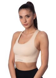 STRONG. - BEZSZWOWY TOP (BEIGE)